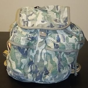 Gap Kids Camo/Orange Utility Backpack
